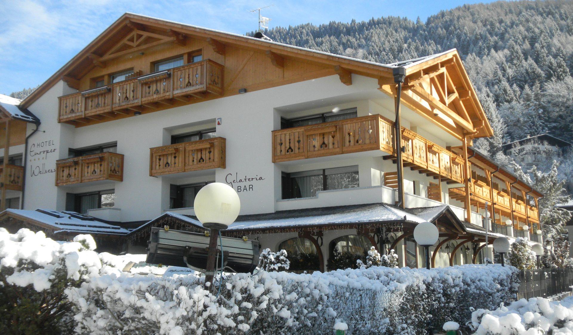 Hotel Europeo Pinzolo im Winter